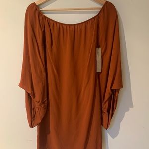 Reformation Mini Dress with bell sleeves. NWT